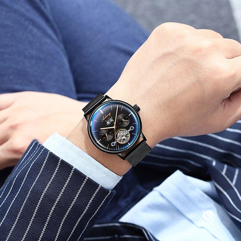 2019 nuevo reloj automático AILANG reloj mecánico para hombre relojes de turbillon impermeables luminosos Steampunk de lujo reloj masculino - 6