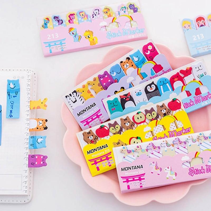 Memo Pads Cute Kawaii Cartoon Animal Finger Unicorn Memo Pad N Times Sticky Note Paper Korean Stationery Cat Planner Sticker School Office Notebooks & Writing Pads