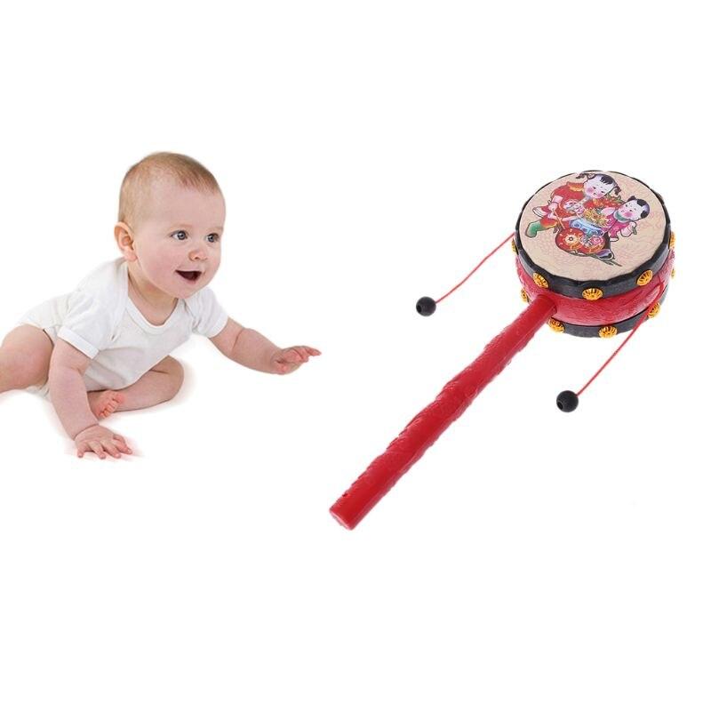1 Pc Spin Rassel Trommel Affe Trommel Chinesischen Kid Spielzeug Geschenk Eine VollstäNdige Palette Von Spezifikationen