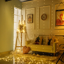 цены Remote Control 3x3m 300 LED 5V USB String Fairy Lights Christmas Garland Curtain Light Home Wedding Party Decoration