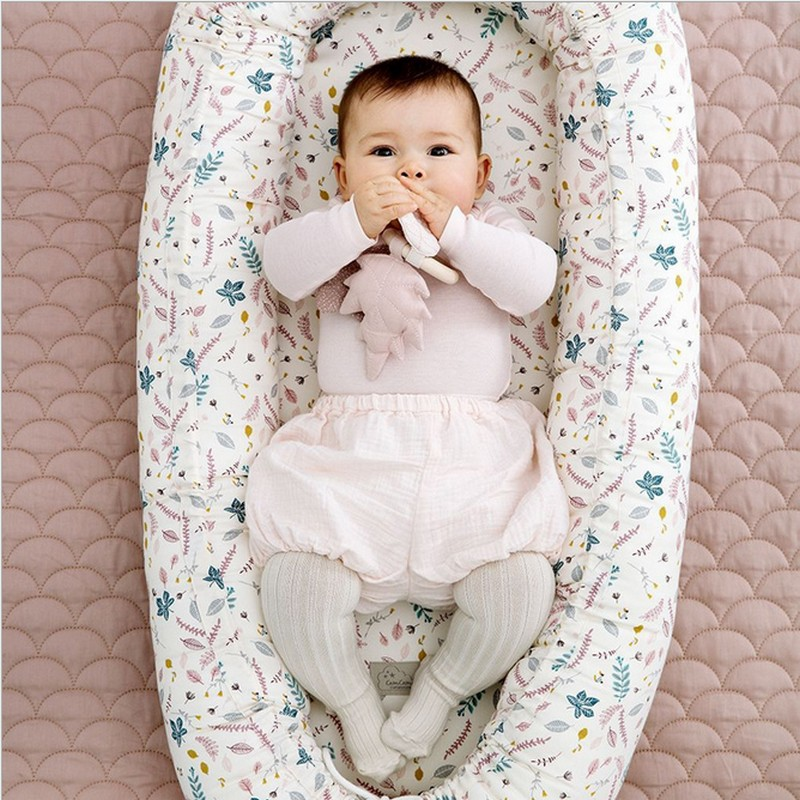 Baby Nest Bed Crib 80cm Length Portable Crib Travel Bed For Children Infant Kids Cotton Cradle For Newborn Baby Bassinet Bumper
