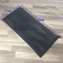 10pc 전문 유선 된 마이크 홀더 Shure 마이크 가방 액세서리 또는 케이블에 대 한 지퍼와 가죽 케이스 23*11 cm