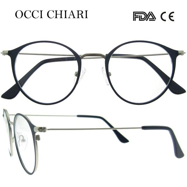 OCCI CHIARI Homens Armações De Óculos De Metal Do Vintage Lente Clara Óculos  Óptica Óculos de 40204a995b