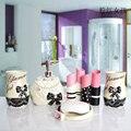 Die Europäischen hochzeitsgeschenk badezimmer set harz badezimmer set von fünf stück bad toilettenartikel badezimmer zubehör-in Regale & Gestelle aus Heim und Garten bei