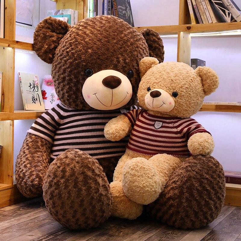 1PC Lovely Teddy Bear Plush Toys Sweater Bear 80CM Soft Stuffed Animals Cute Big Bear Plush Dolls For Baby Kids Christmas Gifts