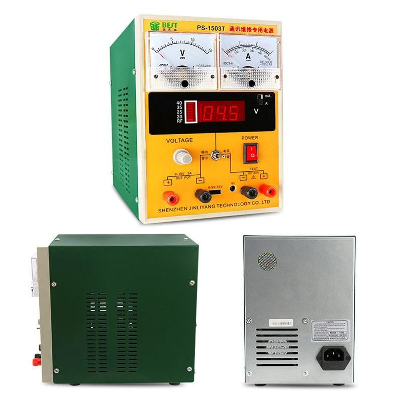 Mobile phone repair adjustable DC power supply, 15V3A linear digital pointer power ammeter mobile phone repair adjustable dc power supply 15v3a linear digital pointer power ammeter