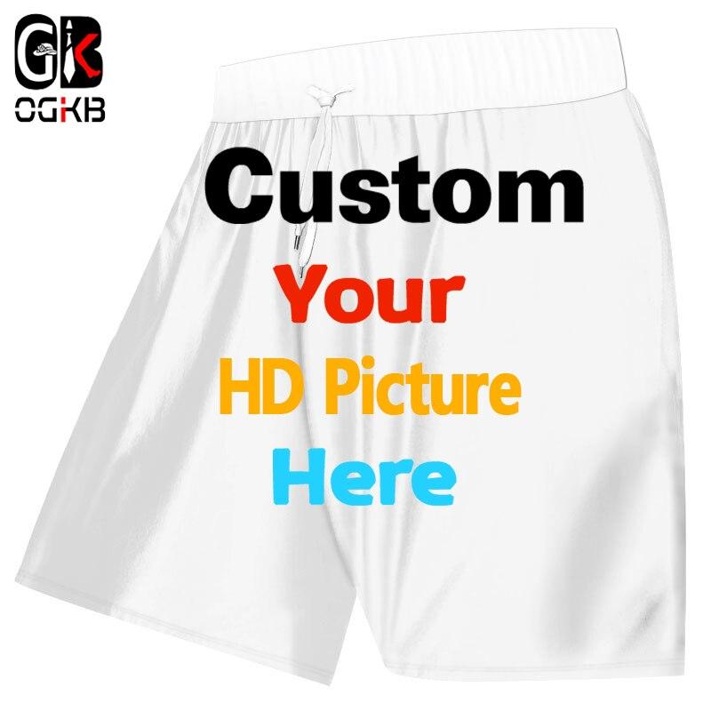 OGKB New Summer Casual Shorts Men's Cool Print Green Camouflage 3D Beach Board Shorts Man Hiphop Punk Elastic Waist Trousers
