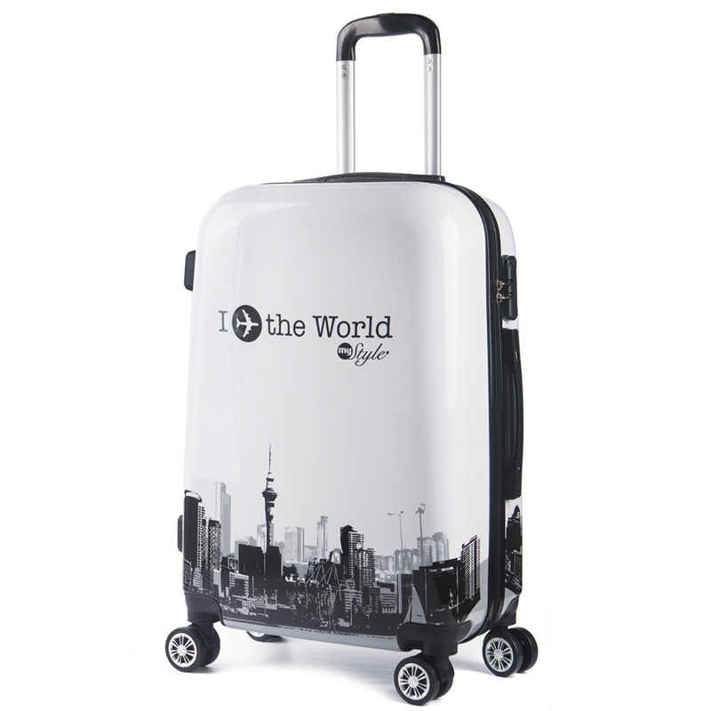20 24 дюймов милый мультфильм студенческий багаж на колёсиках Спиннер Детский чемодан на колесиках детская дорожная сумка жесткая багажник