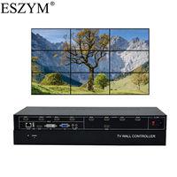 ESZYM 9 Channel TV Video Wall Controller 3x3 2x4 4x2 HDMI DVI VGA USB Video Processor