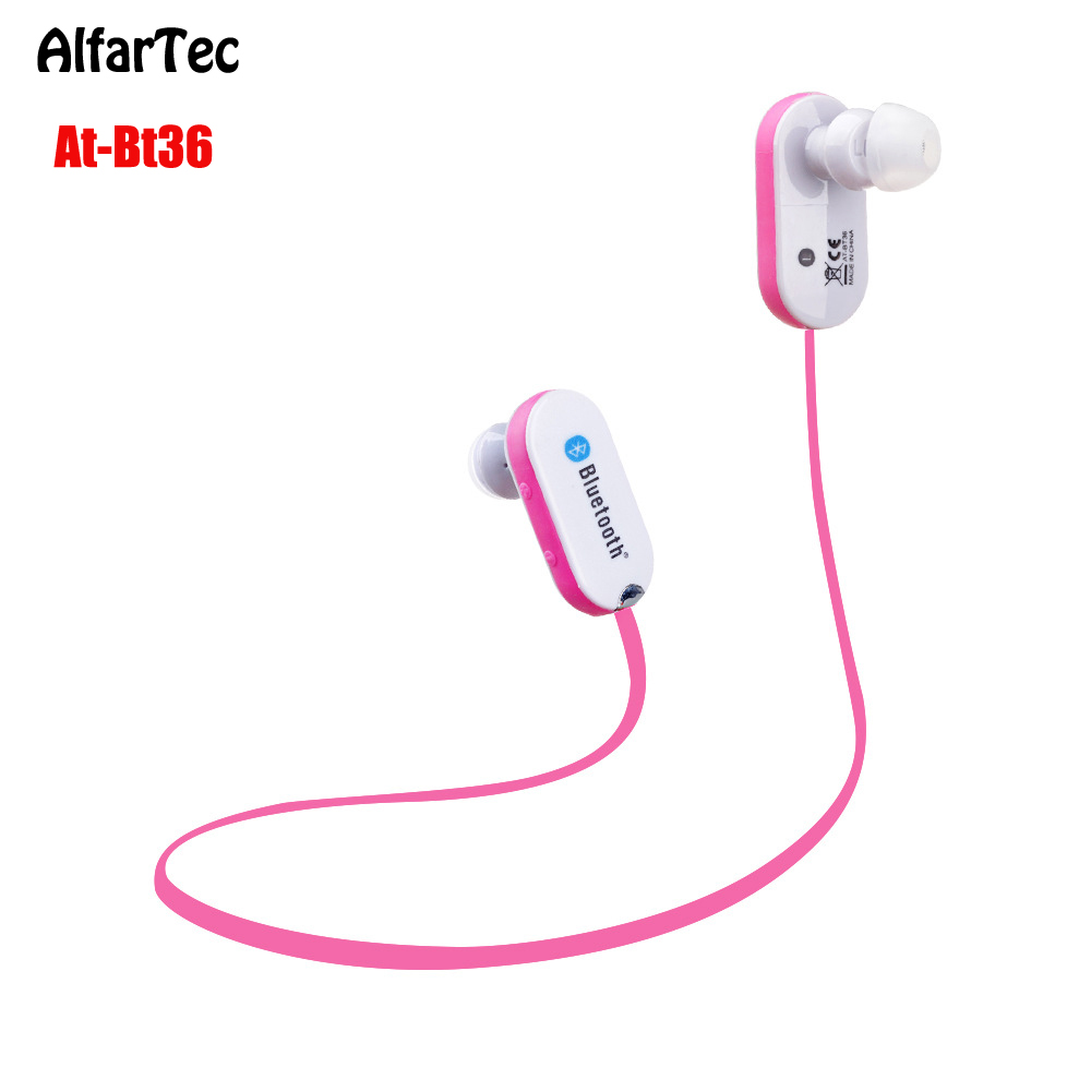Wireless Bluetooth 4.0 In-ear Earphone With Microphone Neckband Volume Control Sport Running Handsfree Men/Women For IOS Android nameblue st 33 sports bluetooth v4 0 in ear earphone headphone set w microphone volume control