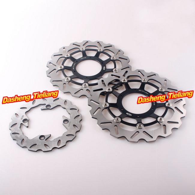 Front Rear Brake Disc Rotors Set For Honda CBR 600RR /ABS 2009 2010 2011 2012 2013 2014 2015 & CBR1000RR 2004 2005 pair motorcycle front brake rotors disc braking disks l r for honda cbr600rr abs 2009 2012 cb1000r 2008 2010 cbr1000rr 2004 2005
