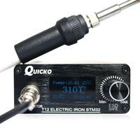 QUICKO STM32 OLED 1.3inch T12 Soldering Station With Russian Korean English Chinese language T12 K Solder Soldering Iron Tips