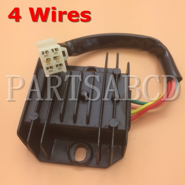 partsabcd 4 wire voltage regulator rectifier gy6 150 200 250cc atv rh aliexpress com Chinese 250Cc ATV Chinese 200Cc ATV Water Cooled