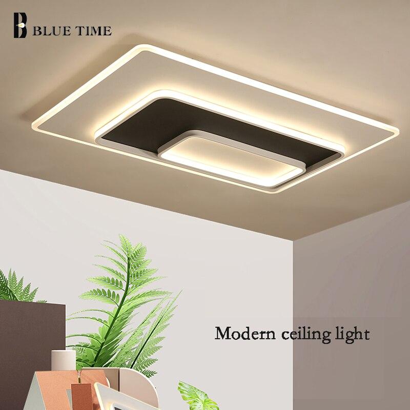 Jmmxiuz New Rectangular Pendant Lights Modern Lamp Ac110v: Rectangle Modern LED Ceiling Light For Living Room Kitchen