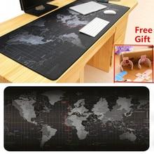 90×40 cm Absorbente Transpirable mapa Del Mundo Gamer mouse pad cojín de escritorio Moderna Sintió Oficina Vade Teclado de la Computadora Tabla estera Mousepad