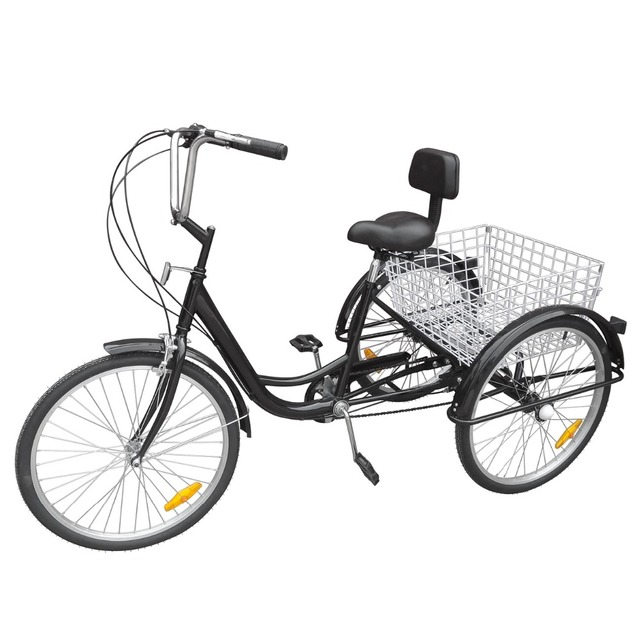 24 3 Wheel Bicycle Bike Tricycle 6 Sd Basket Cruiser Beach Trike