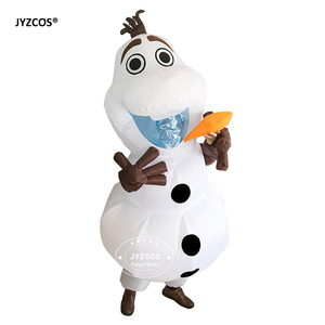 Image 2 - JYZCOS Olaf Snowman Costumes for Women Men Adult Purim Halloween Inflatable Christmas Blowup Anime Cosplay Fancy Dress Up Mascot