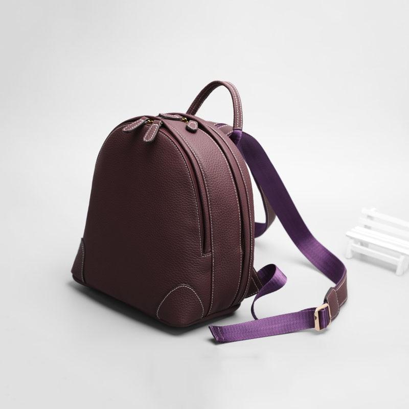Здесь продается  Fashion Genuine leather backpack women luxury brand simple convenient and practical large-capacity Calfskin Women travel bag  Камера и Сумки