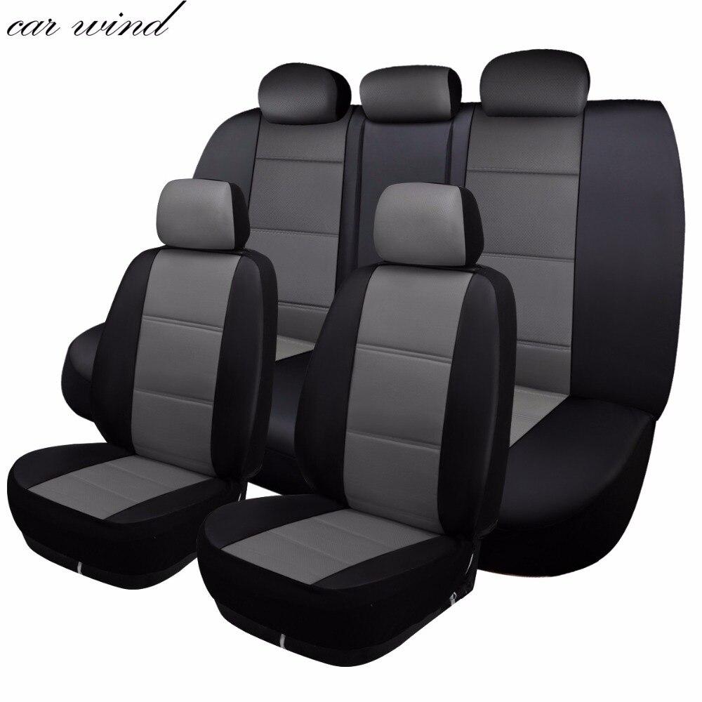 Couverture de siège de voiture en cuir automatique de vent de voiture couverture de siège automobile universelle pour toyota hilux bmw x3 vw hyundai accessoires de voiture d'accent