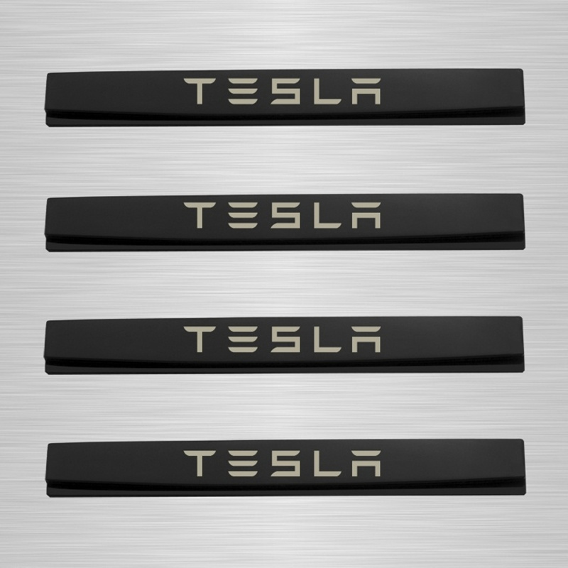 Car Styling Door side Edge Protection Guards Stickers For Tesla Model S Model X in Car Stickers from Automobiles Motorcycles