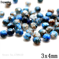 Isywaka 3X4mm 30,000pcs Rondelle Austria faceted Crystal Glass Beads Loose Spacer Round Beads Jewelry Making NO.56