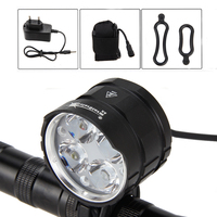 4000LM 4x XML T6 LED Head Bike Light Torch Front Bicycle Cycling Flashlight Handlamp Headlight+12000mAh 18650 Battery Set