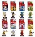 2017 Nova 8 Pc Ninja Lloyd Cole Jay Kai Zane Figuras Toys Minifigs Ninjag Com Bloco de Construção De Armas