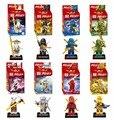 2017 Nuevo 8 Unid Ninja Kai Zane Cole Jay Lloyd Minifigs Ninjag Con Figuras Juguetes de Bloques de Construcción de Armas