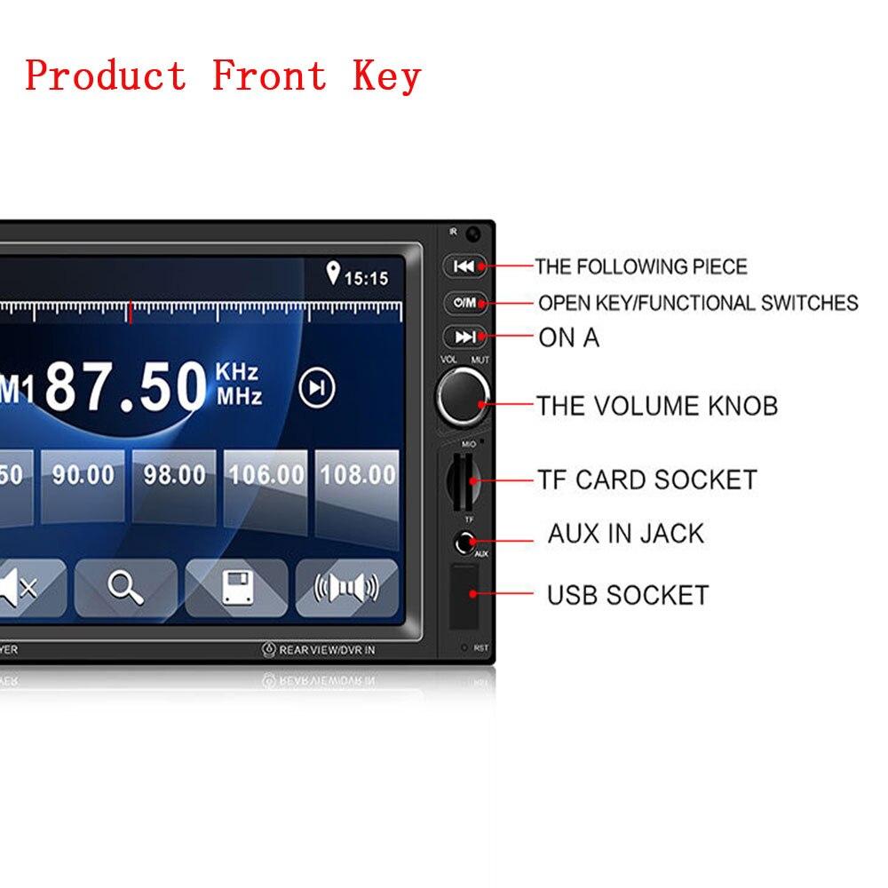 AMPrime 2din 8012B lecteur multimédia de voiture stéréo Bluetooth Radio voiture audio 7 ''2 DIN écran tactile Autoradio avec caméra de recul - 4