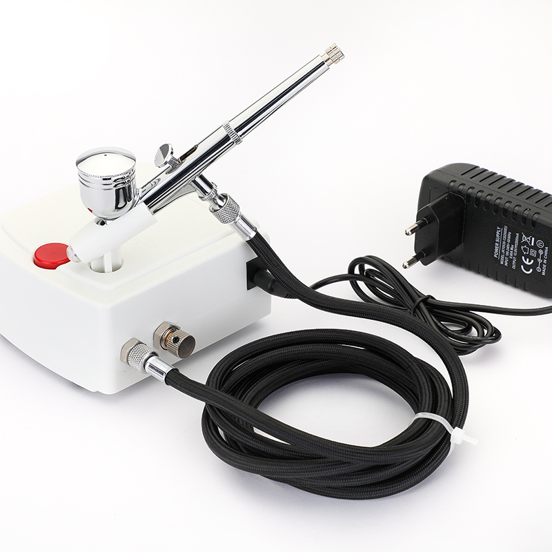 Image 2 - Dual Action Airbrush Compressor Kit Air Brush Paint Gun Cleaning Tool Makeup Nail Paint Spray Gun Tattoo Body Car Paint-in Spray Guns from Tools on
