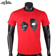 Ling Bultez 100%Cotton Comic Hero T Shirt Deadpool T Shirt