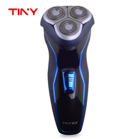 TINY Washable Waterproof Triple Blade Rechargeable Rotary Electric Men Face Shaver Beard Shaving Hair Removal Razor