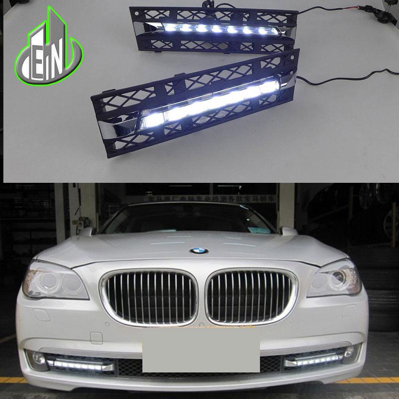 EN Car DRL Kit 2009 2010 2011 2012 For BMW F01 F02 7 Series 730i 740i 750i 760i LED Daytime Running Light Fog Lamps Daylight в гомеле bmw 750i е38