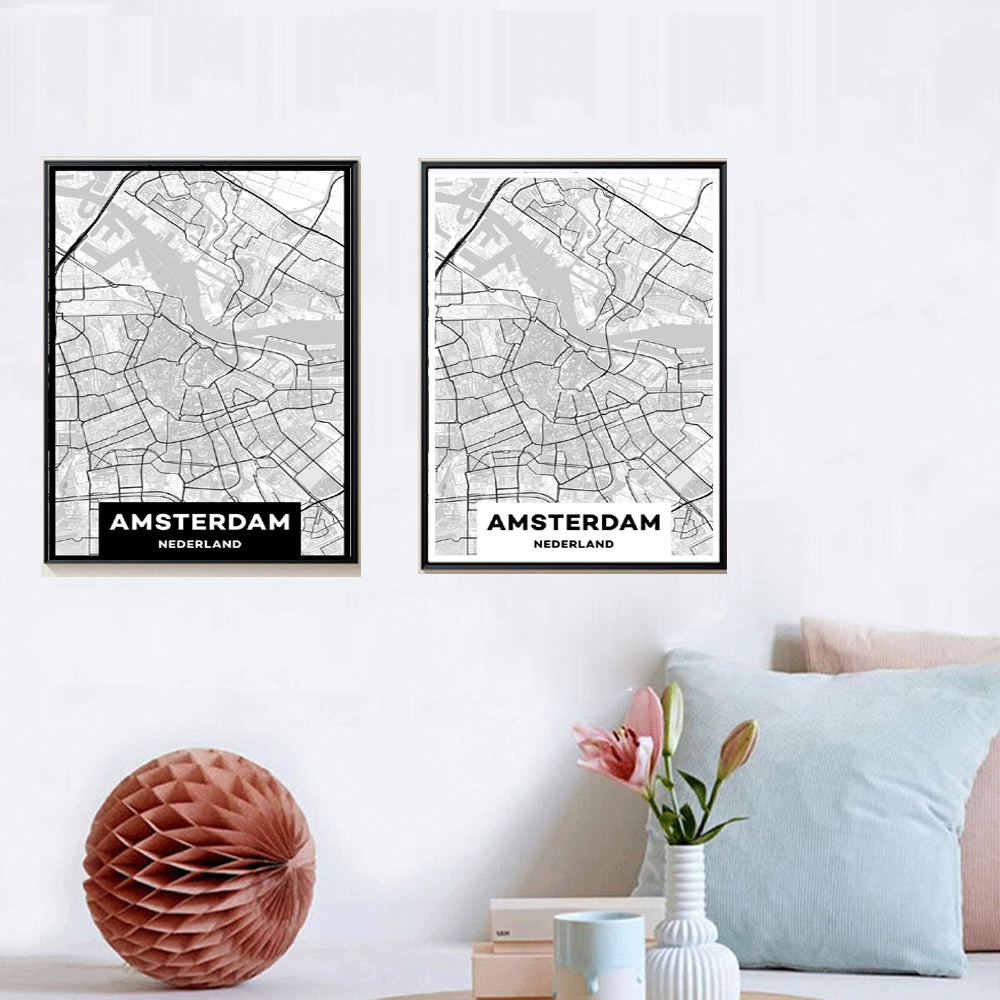 xdr452 Custom MAP Print Creative Nordic Customizable City Line - Διακόσμηση σπιτιού