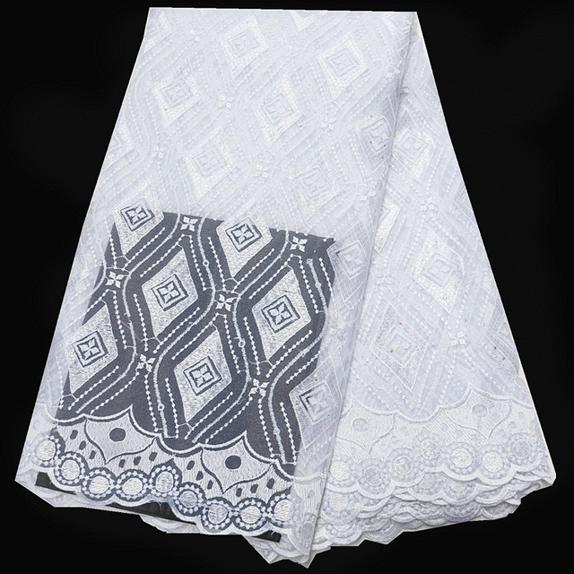 High Quality White Tulle Tissue African Lace Fabric