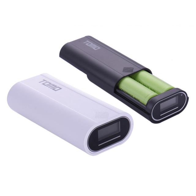 Tomo banco de potencia 18650 batería caja de la caja/diy led de capacidad de voltaje actual de la pantalla del cargador powerbank para iphone 5s 6 6 s