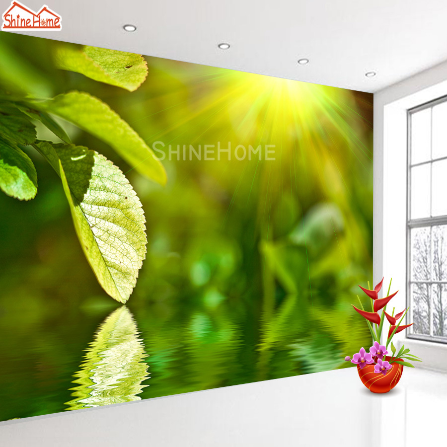 3d Leaf Custom Photo Wallpapers Wall Mural Wall Paper 3d Wallpaper For Walls In Rolls Living Room Kids Forest Landscape Murals
