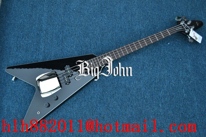 free shipping customized big john new 4 strings electric bass guitar in black 21 fret scale. Black Bedroom Furniture Sets. Home Design Ideas