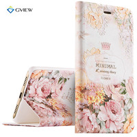 Luxury PU Leather 3D Relief Printing Stereo Feeling Smart Flip Cover Case For Samsung Galaxy C5