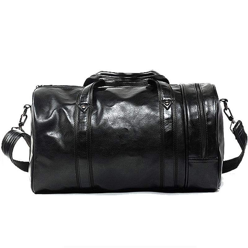 489585522e3f Large Capacity Travel Bag Multifunction Portable Travel Shoulder Duffle  Bags High Quality Men s Tote Bag PU Leather Duffel Bag-in Travel Bags from  Luggage ...