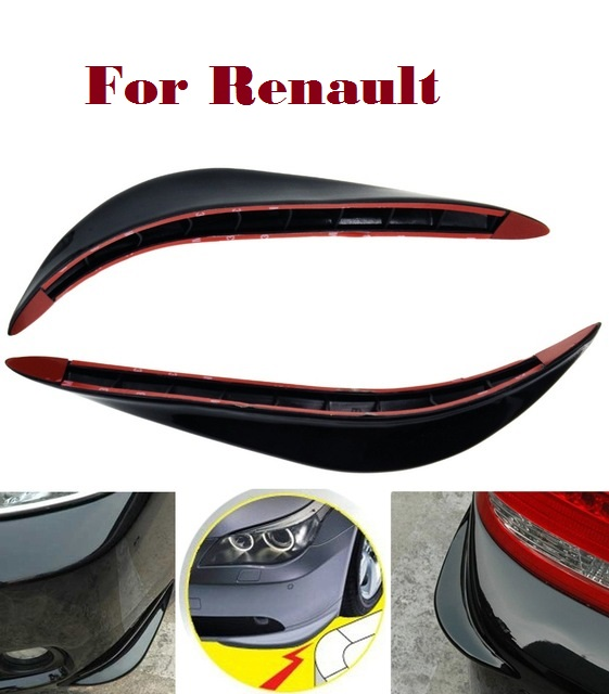 2PCS Car SUV Truck Bumper Corner Protector Anti-rub for Renault KWID Laguna Latitude Logan Megane Megane RS Safrane Sandero for renault fluence latitude talisman laguna wear resisting waterproof leather car seat covers front