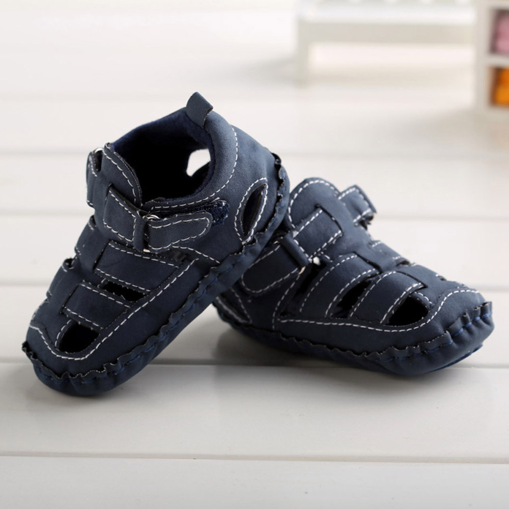 Black sandals for toddler boy - Baby Boys Shoes Summer Toddler Boys Crib Shoes Hollow Out Soft Sole Anti Slip Baby