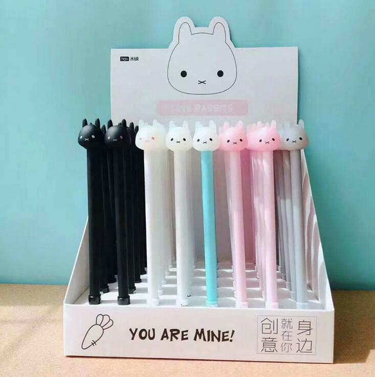 4 pcs/lot You Are Mine Duffy Rabbit Gel Pen Promotional Gift Stationery School & Office Supply