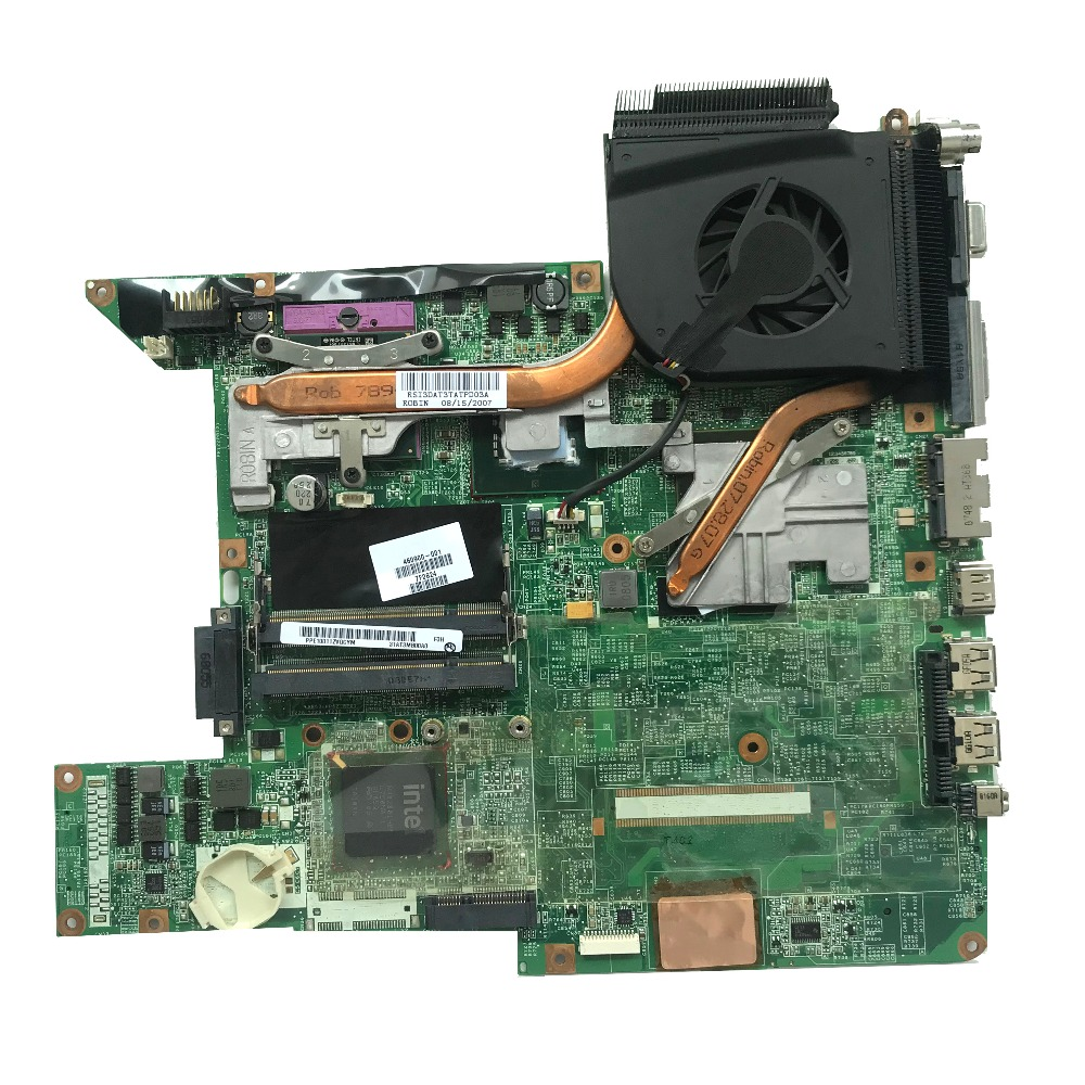 Excellent 460900 001 FOR HP DV6500 DV6700 Laptop Motherboard DDR2 With 8400M 512MB GPU DA0AT3MB8F0 Cooling