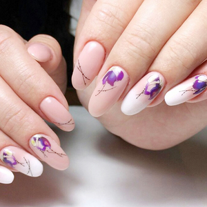 Image 5 - 1pcs Floral Slider Water Stickers Decal For Nail Art Transfer Tattoo Flamingo Leaf Gel Manicure Adhesive Decor Tip CHSTZ508 706