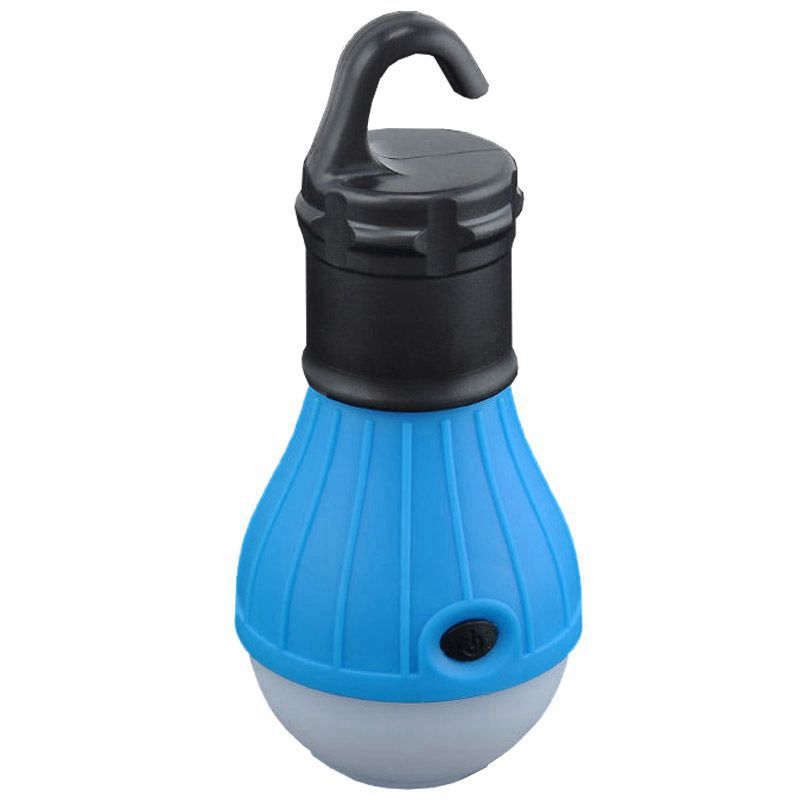 DSHA Hot Sale New Outdoor Hanging 3 LED Camping Tent Light Bulb Fishing Lantern Lamp Blue