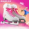 Japy Truques de Skate Patinar No Gelo Sapatos de Couro Adulto Criança Patins De Gelo Profissional Flor Faca Hóquei No Gelo Patins De Gelo Faca Real