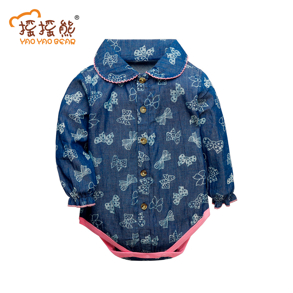 Baby Clothing 2017 New Newborn Baby Boy Girl Romper Clothes Long Sleeve Infant Product Baby Clothes Baby Girl Romper Newborn 2016 princess newborn baby girl clothes infant body suits floral romper