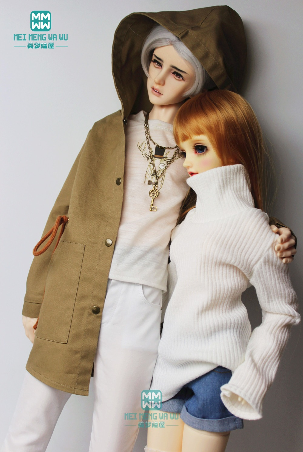 BJD Doll Clothes Loose Version Turtleneck Sweater Fits 1/3 BJD Doll Girl Boy And BJD Uncle Dimensional Compatible