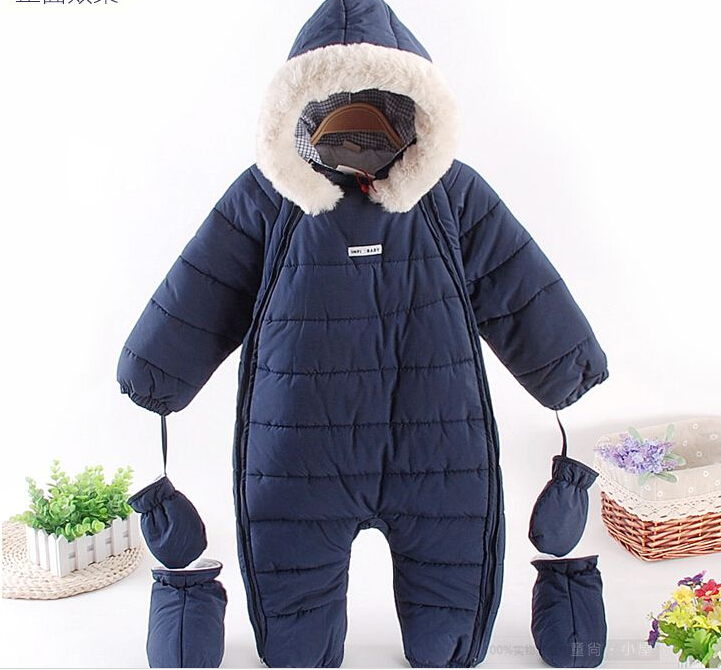 2017 New Style newborn warm jumpsuits cartoon cotton padded snowsuit Winter outerward coat baby wear infant clothing women winter coat leisure big yards hooded fur collar jacket thick warm cotton parkas new style female students overcoat ok238